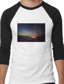 Aurora over Glengesh, Donegal Men's Baseball ¾ T-Shirt