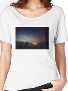 Aurora over Glengesh, Donegal Women's Relaxed Fit T-Shirt