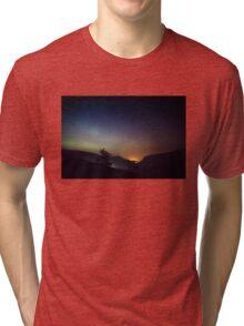 Aurora over Glengesh, Donegal Tri-blend T-Shirt