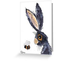 THE HARE AND THE BUMBLE BEE Greeting Card