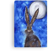 HARE IN THE MOONLIGHT Canvas Print