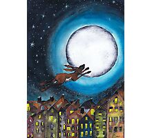 FLYING HARE Photographic Print