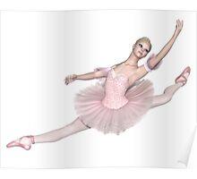 Ballerina in Pink Tutu - Grand Jeté Poster