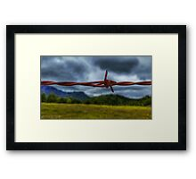 Barbed wire. Framed Print