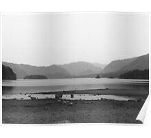 Derwent Water - Keswick (Black & White) Poster