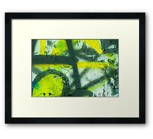Black Yellow White Framed Print