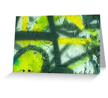 Black Yellow White Greeting Card