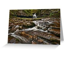 Couldron Falls, West Burton Greeting Card