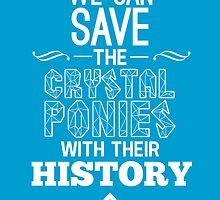 Crystal Ponies - Typography Poster by owlet57