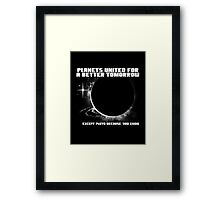 Power to the Planets. Framed Print