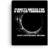 Power to the Planets. Canvas Print