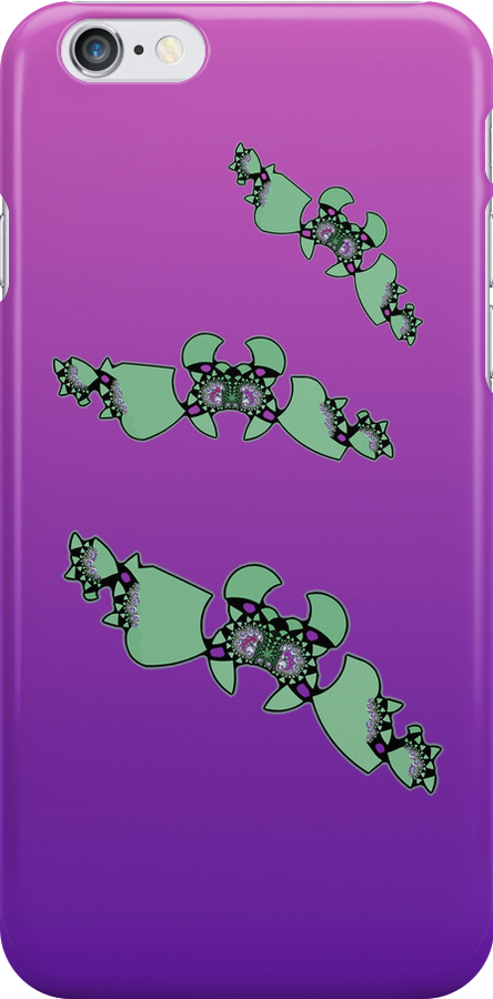Geek style flying fractals pattern design V by Marianne Campolongo
