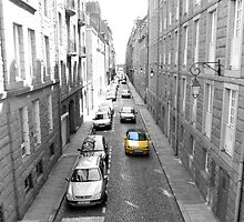 Yellow Car, Saint-Malo, Brittany by mps2000