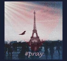 Pray for Paris Artwork Kids Tee