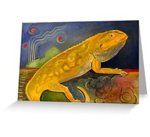 Fluffy the Bearded Dragon Rest In Peace Greeting Card