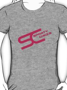 Sporty Chicks Logo T/Hoodie/Stickers T-Shirt
