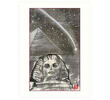 Sphinx and Pyramid I Art Print