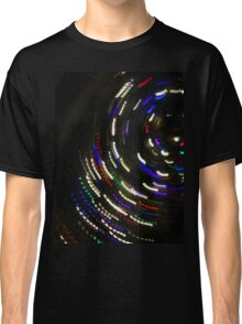 Spinning Galaxy of Christmas Lights Classic T-Shirt