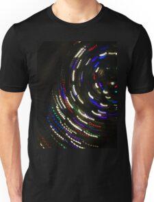 Spinning Galaxy of Christmas Lights Unisex T-Shirt