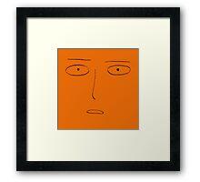 saitama face Framed Print