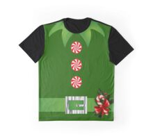 green elf Merry Christmas Santa's helper elf costume  Graphic T-Shirt
