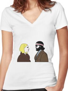 The Royal Tenenbaums Women's Fitted V-Neck T-Shirt