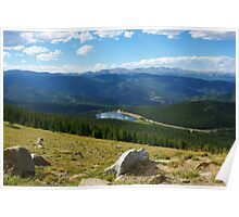 High above Echo Lake, Rocky Mountains, Colorado Poster