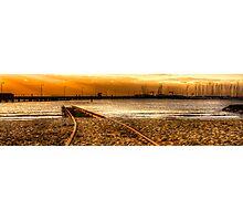 Golden Tracks 2 Photographic Print