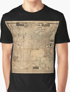 The Washington Map of the United States (1861) Graphic T-Shirt