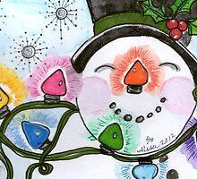 Happy Snowman by MysticDragonfly