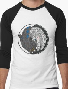Sci-Fi Yin Yang Men's Baseball ¾ T-Shirt