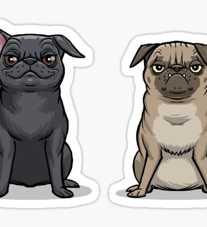 MEAN MUG PUGS - Ozzy & Kubrick Sticker