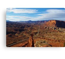 Tower Rock and Highway Canvas Print