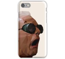 Doc Brown - Back to the Future   Christopher Lloyd Low Poly iPhone Case/Skin