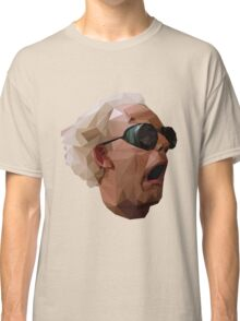 Doc Brown - Back to the Future | Christopher Lloyd Low Poly Classic T-Shirt