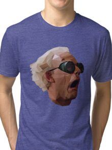 Doc Brown - Back to the Future | Christopher Lloyd Low Poly Tri-blend T-Shirt