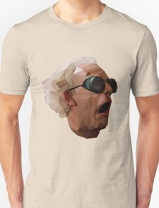 Doc Brown - Back to the Future | Christopher Lloyd Low Poly T-Shirt