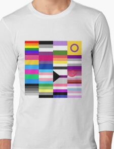 LGBT Pride Flags Collage Long Sleeve T-Shirt