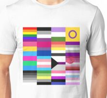 LGBT Pride Flags Collage Unisex T-Shirt