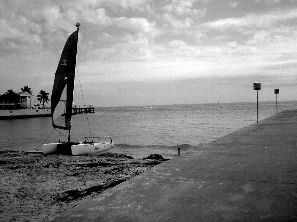 """Sailboat on Beach""  by njchip123"