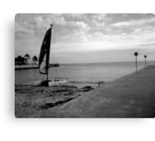 """Sailboat on Beach"" by Chip Fatula Canvas Print"