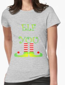 Cute Funny Christmas Elf Legs Elf You T-Shirt