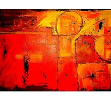 """Orange Abstract"" Photographic Print"