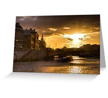 Sunset on Seine Greeting Card