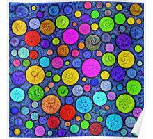 #DeepDream Color Circles Visual Areas 5x5K v1448629304 Poster