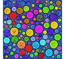 #DeepDream Color Circles Visual Areas 5x5K v1448629304 Photographic Print