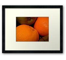 """""""Apples and Oranges"""" Framed Print"""