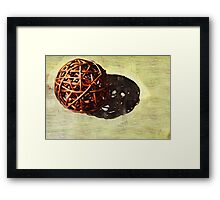 a ball @ home Framed Print
