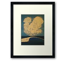 Lone Wave Breaks Framed Print