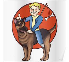 Dogmeat and Vault boy Poster